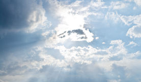 Cloudy Stormy sky. With a day Stock Photography