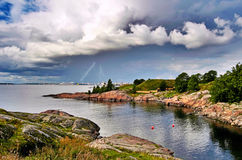 Cloudy and stormy summer Royalty Free Stock Image