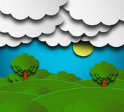 Cloudy Summer Background Stock Photography