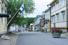 Cloudy summer day on the historic quarter of Naantali Stock Photo