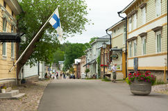 Cloudy summer day on the historic quarter of Naantali Royalty Free Stock Images