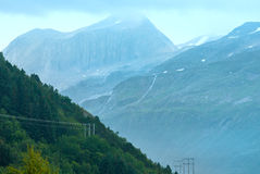 Cloudy summer mountain view (Norway) Stock Image