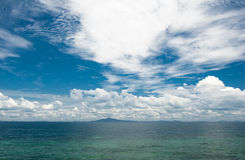 Cloudy summer sea royalty free stock image