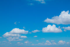 Cloudy  with sun shines blue sky beautiful Royalty Free Stock Images