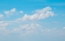 Cloudy  with sun shines blue sky beautiful Royalty Free Stock Image
