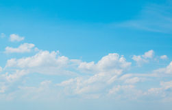 Cloudy  with sun shines blue sky beautiful Royalty Free Stock Photos