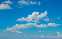 Cloudy  with sun shines blue sky beautiful Stock Image