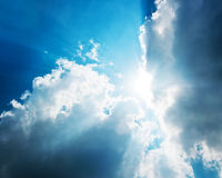 Cloudy and sun sky Royalty Free Stock Images