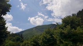 Cloudy sunny italian sky. Cloudy and sunny sky with Amazing italian summer landscape stock image