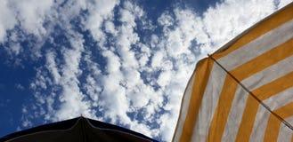 Cloudy sunny italian sky. Cloudy and sunny sky with Amazing italian summer landscape royalty free stock image