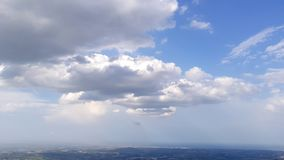 Cloudy sunny italian sky. Cloudy and sunny sky with Amazing italian summer landscape royalty free stock photography