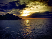 Cloudy sunrise. stock image