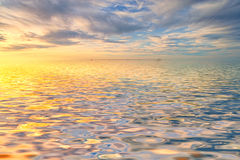 Cloudy sunrise seascape Stock Photography