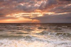 Cloudy sunset Stock Image