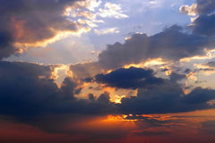 Cloudy sunset Royalty Free Stock Image