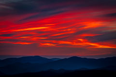Sunset Great Smoky Mountain National Park Stock Photos