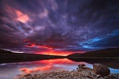 Cloudy sunset. Nice cloudy sunset inthe swamp Royalty Free Stock Photos