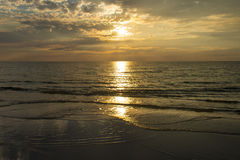 Cloudy Sunset over Ocean Royalty Free Stock Photography