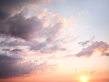 Cloudy sunset Stock Photography