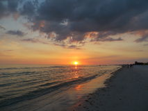 The Cloudy Sunset. This photo was taken in Florida Royalty Free Stock Photos