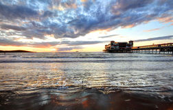 Cloudy Sunset Pier Royalty Free Stock Image