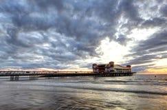 Cloudy Sunset Pier Royalty Free Stock Photos