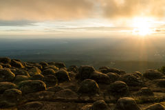 Cloudy Sunset Stock Photo