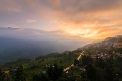 Cloudy sunset in Sapa town Stock Photography