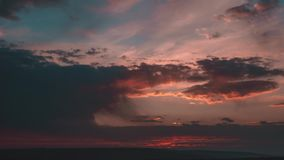Cloudy Sunset On Sea Time Laps 4K. stock footage