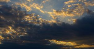 Cloudy Sunset Sky Colors At Dawn. Footage stock video footage