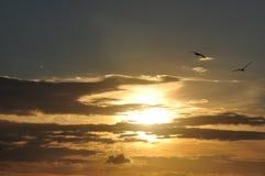 Cloudy sunset Royalty Free Stock Photos