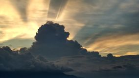 Cloudy. Sunshine behind that cloudy clouds Royalty Free Stock Images