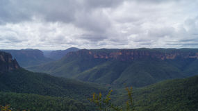 Cloudy Sydney Blue Mountains Stock Photo