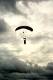 Cloudy Tandem Jump 1 Stock Photography