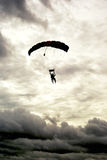 Cloudy Tandem Jump 2 Royalty Free Stock Photography