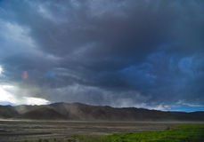Cloudy Tibet. A cloudy landscape in Tibet stock photo