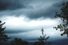 Cloudy. Took this photo of an ominous gloomy cloudy day stock image