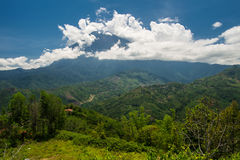 Cloudy top of Kinabalu mount Royalty Free Stock Images
