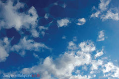 Cloudy triangle Stock Images