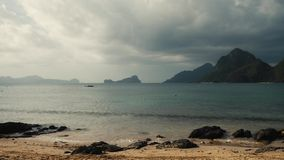 Cloudy tropical beach with nice view stock video footage