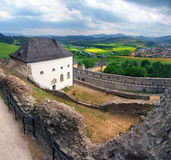 A cloudy view from the castle of Lubovna, Slovakia Stock Photography