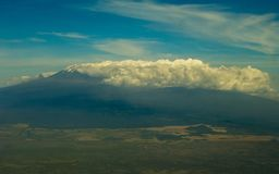 Aerial View of Kilimanjaro stock photography