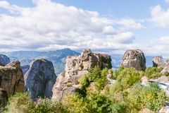 Meteora Monasteries View In Greece Royalty Free Stock Images