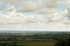 Cloudy view over the Chilterns in Buckinghamshire Royalty Free Stock Photos