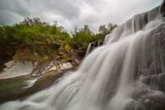 Cloudy waterfall Royalty Free Stock Photography