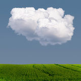 Cloudy Weather. Concept with cloud and shadow on field Stock Photo