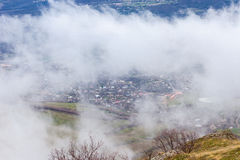 Cloudy weather in the Crimean mountains Royalty Free Stock Photos
