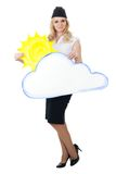 Cloudy weather forecast Stock Photos