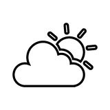 Cloudy weather isolated icon. Vector illustration design Royalty Free Stock Image