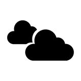 Cloudy weather isolated icon. Vector illustration design Stock Image